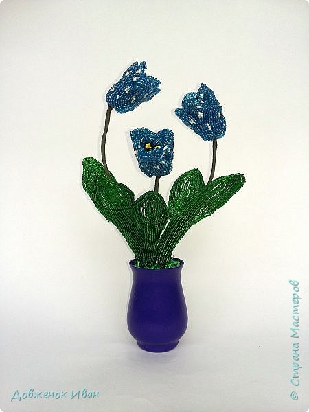 Тюльпаны сделаны по идеи Т.Е. Косововой , под руководством и автору мк Людмилы ( ЛюдмилаШ) на форуме Саната   1. композиция в сосуде   фото 1