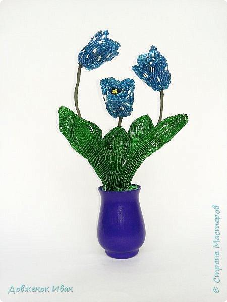 Тюльпаны сделаны по идеи Т.Е. Косововой , под руководством и автору мк Людмилы ( ЛюдмилаШ) на форуме Саната   1. композиция в сосуде   фото 4