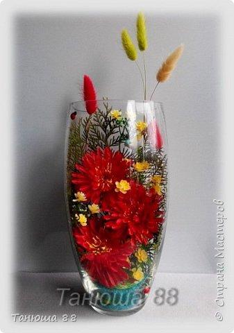 композиции из искусственных цветов фото 3