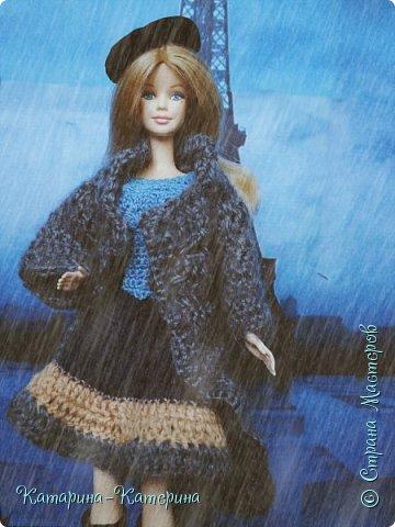 """Доброго времени суток! Я вернулась:) Сегодня я покажу комплект под названием """"Дождливый Париж"""". Диорама """"эйфелева башня"""" делалась специально для фотосессии. В комплекте пальто, юбка и топ, сапоги и беретка - фирменные. фото 3"""