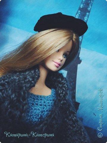 """Доброго времени суток! Я вернулась:) Сегодня я покажу комплект под названием """"Дождливый Париж"""". Диорама """"эйфелева башня"""" делалась специально для фотосессии. В комплекте пальто, юбка и топ, сапоги и беретка - фирменные. фото 9"""