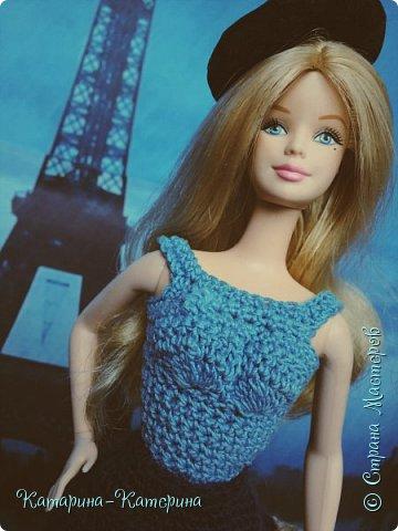 """Доброго времени суток! Я вернулась:) Сегодня я покажу комплект под названием """"Дождливый Париж"""". Диорама """"эйфелева башня"""" делалась специально для фотосессии. В комплекте пальто, юбка и топ, сапоги и беретка - фирменные. фото 1"""