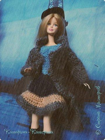 """Доброго времени суток! Я вернулась:) Сегодня я покажу комплект под названием """"Дождливый Париж"""". Диорама """"эйфелева башня"""" делалась специально для фотосессии. В комплекте пальто, юбка и топ, сапоги и беретка - фирменные. фото 5"""
