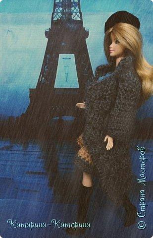 """Доброго времени суток! Я вернулась:) Сегодня я покажу комплект под названием """"Дождливый Париж"""". Диорама """"эйфелева башня"""" делалась специально для фотосессии. В комплекте пальто, юбка и топ, сапоги и беретка - фирменные. фото 6"""