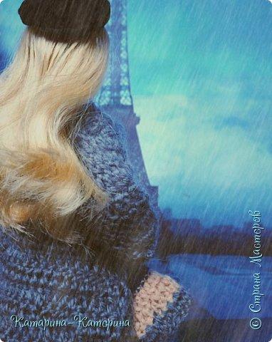 """Доброго времени суток! Я вернулась:) Сегодня я покажу комплект под названием """"Дождливый Париж"""". Диорама """"эйфелева башня"""" делалась специально для фотосессии. В комплекте пальто, юбка и топ, сапоги и беретка - фирменные. фото 7"""