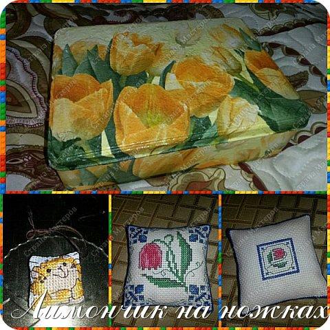 Подарок на день рождения любимой тети - рукодельный набор: шкатулка для рукоделия, маячок для ножниц и игольница. фото 1