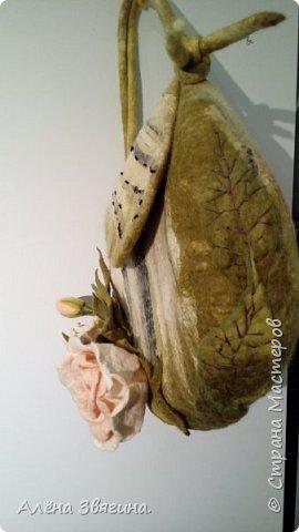 Войлочные сумки через плечо .,,розы,, фото 6