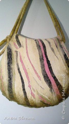 Войлочные сумки через плечо .,,розы,, фото 2