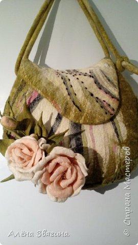 Войлочные сумки через плечо .,,розы,, фото 1
