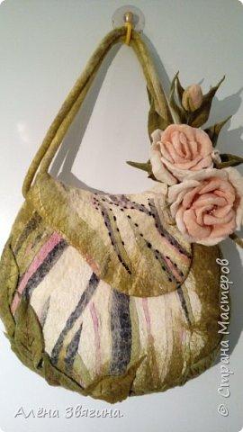 Войлочные сумки через плечо .,,розы,, фото 3