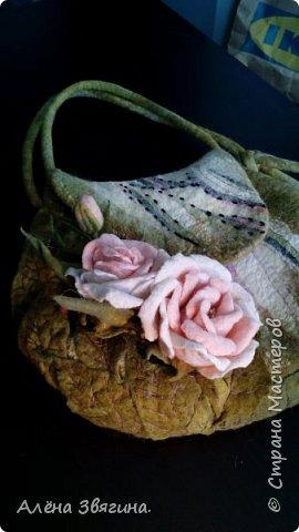 Войлочные сумки через плечо .,,розы,, фото 5