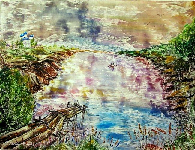 """""""Старый мостик"""". А2 (давно хотела  """"наутюжить"""" картину размера А2). фото 1"""