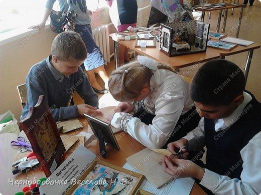26апреля в Самарской школе 132 проводились Международные славянские чтения, в рамках которых организуется выставка декоративно-прикладного творчества. В этом году было выставлено более 200 работ со всей Самарской области. Мы помимо этого давали мастер-класс по прорезной бересте фото 4