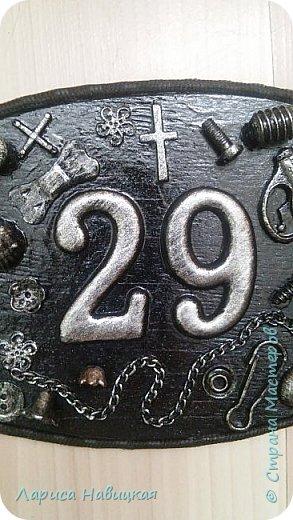 После того,как я сделала себе номерок на дверь,моим детям срочно понадобились такие же))) Сделала,только в серебре. фото 4