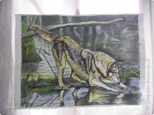 Эскиз картины, выполнен на листе ватмана акварельными красками. Эскиз скопирован по картинке из интернета. фото 1
