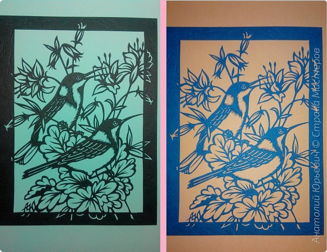 """Всем добрый день! Вашему вниманию новая открытка с птичками. - Восточный шилоклювый медосос (лат. Acanthorhynchus tenuirostris) — вид воробьинообразных птиц из семейства медососовых (Meliphagidae). - Встречается в восточной части Австралии. Питается нектаром множества растений, помимо нектара питается беспозвоночными - Эскиз для """"вырезалки"""" выполнен, изменён и доработан по цветной работе австралийской художницы Dtidre Hunt.  - Размер открытки 12х16см. фото 5"""