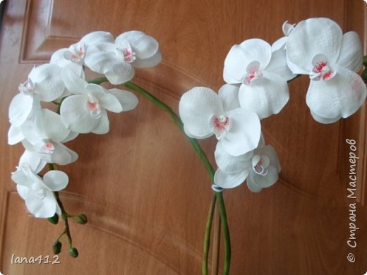 эту орхидею сделала для себя( а то сапожник без сапог)  фото 3