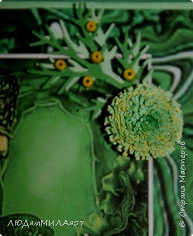 Здравствуйте всем!!!Заканчиваю свою серию открыток по Бажовским сказам. Заканчивается фантазия,заканчиваются картинки и вдохновение просится на отдых.Наверное я бы не стала делать и эти открытки,но уж больно хотелось сделать открытку на акварельном фоне....... фото 13