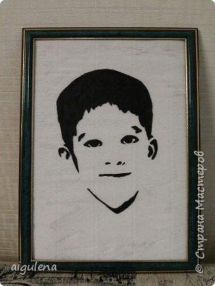 Сделала портрет сына из кожи. Идея взята у http://stranamasterov.ru/user/214435 фото 1