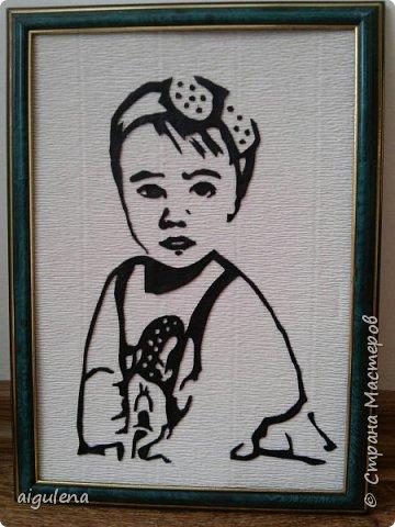 Мой первый портрет из кожи. Идея взята у http://stranamasterov.ru/user/214435  фото 1