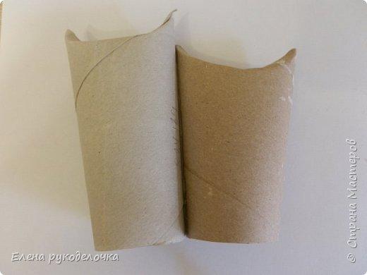 Продолжаю утилизировать рулончики от ТБ и бумажных полотенец. Кошечка сделана из рулончика от ТБ, а котик из рулончика от бумажного полотенца. Здесь можно посмотреть сову и ёжика  http://stranamasterov.ru/node/1097944 . фото 4
