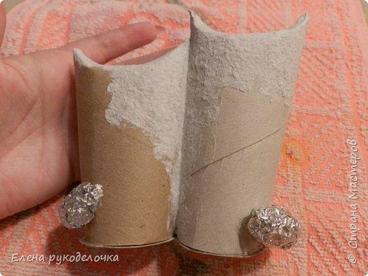 Продолжаю утилизировать рулончики от ТБ и бумажных полотенец. Кошечка сделана из рулончика от ТБ, а котик из рулончика от бумажного полотенца. Здесь можно посмотреть сову и ёжика  http://stranamasterov.ru/node/1097944 . фото 6