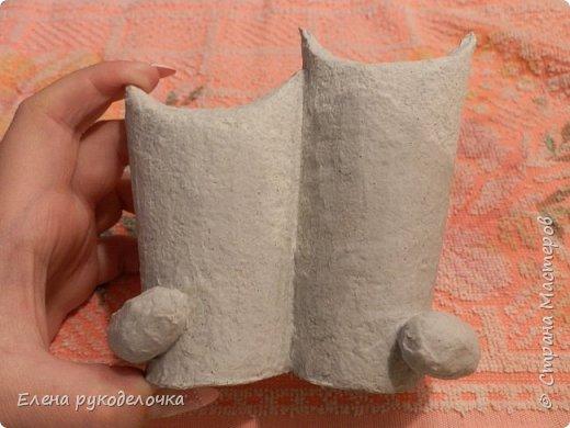 Продолжаю утилизировать рулончики от ТБ и бумажных полотенец. Кошечка сделана из рулончика от ТБ, а котик из рулончика от бумажного полотенца. Здесь можно посмотреть сову и ёжика  http://stranamasterov.ru/node/1097944 . фото 7