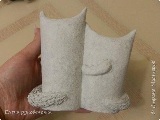 Продолжаю утилизировать рулончики от ТБ и бумажных полотенец. Кошечка сделана из рулончика от ТБ, а котик из рулончика от бумажного полотенца. Здесь можно посмотреть сову и ёжика  http://stranamasterov.ru/node/1097944 . фото 11