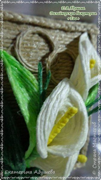 Приветствую всех кто заглянул на маю страничку продолжаю тему свадебной тематике и цветы из джута. На этот раз это набор бижутерии с цветами из джута фото 7