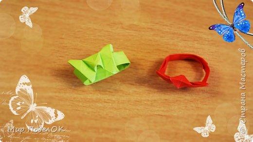 Забавное колечко оригами в виде бабочки. Девчонки, сделайте украшения своими руками себе и своим подружкам.  Подписывайтесь на мой канал! Там много интересного!