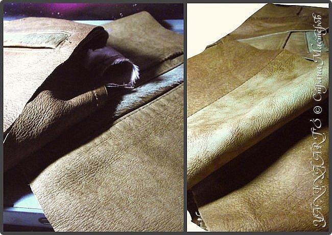 """Это моя """"проба пера"""".МОЙ ОЧЕРЕДНОЙ КАСТОМАЙЗИНГ.  Принесли  плащ из кожи и попросили сшить небольшую дорожную (дамскую!) сумку! И вот мой результат: фото 2"""