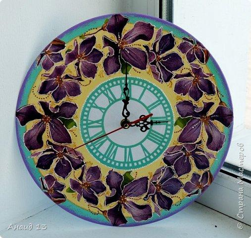 Очень мне понравилось творить часы. Часы в детскую для девочки. фото 2