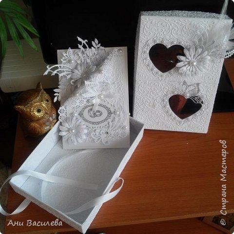 Сватбена картичка с кутия фото 3