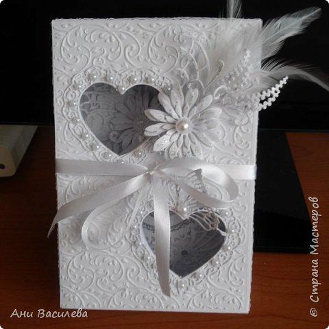 Сватбена картичка с кутия фото 2