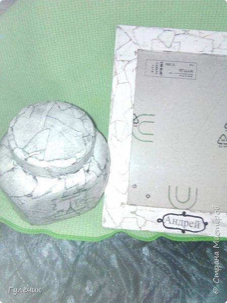 Рамочка для внука, именная, имитация камня, из тонких глянцевых листов фото 3
