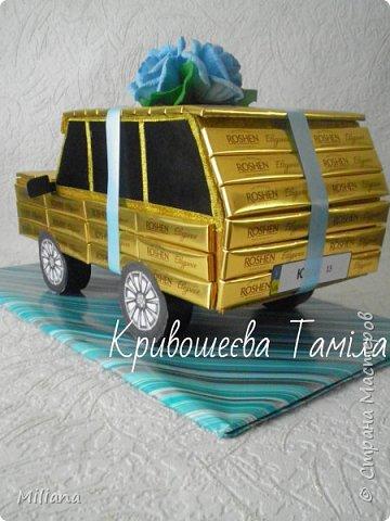 Вот такая получилась машина. Я делала её по образцу автора NATALI_69  http://stranamasterov.ru/node/359985?c=favorite  Делала на день рождения мальчика, которому исполнилось 13 лет.  фото 3