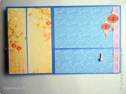 Первая открытка с душистым горошком. Форма меня покорила, так же мне она нравится. Бумага из коллекции Душистый горошек от М. Пайнтер (в Леонардо). фото 8
