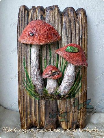 Дорогие ДРУЗЬЯ, всем огромный привет!!! Наконец то и я добралась до браша-ура!!! Давно задумала создать ключницы с объёмными грибочки(и не только грибочками-но это пока в планах) на брашированных досочках и вот мои мечты воплотились в реальность!  фото 3