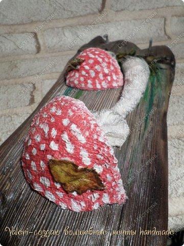 Дорогие ДРУЗЬЯ, всем огромный привет!!! Наконец то и я добралась до браша-ура!!! Давно задумала создать ключницы с объёмными грибочки(и не только грибочками-но это пока в планах) на брашированных досочках и вот мои мечты воплотились в реальность!  фото 12