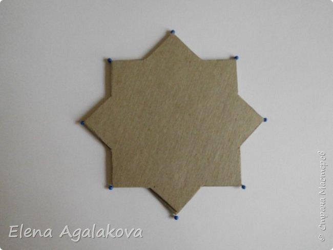 """Сегодня я хочу показать плетение мандалы на картонной основе. Эта мандалу еще называют """"Португальская звезда"""" фото 2"""