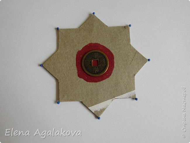 """Сегодня я хочу показать плетение мандалы на картонной основе. Эта мандалу еще называют """"Португальская звезда"""" фото 3"""