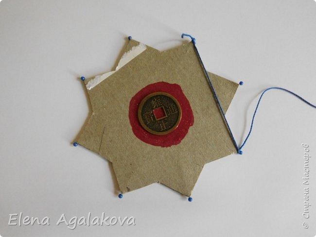 """Сегодня я хочу показать плетение мандалы на картонной основе. Эта мандалу еще называют """"Португальская звезда"""" фото 5"""