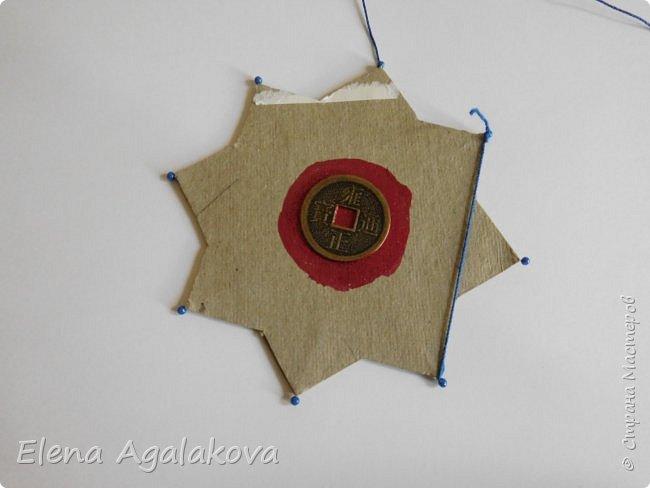 """Сегодня я хочу показать плетение мандалы на картонной основе. Эта мандалу еще называют """"Португальская звезда"""" фото 6"""