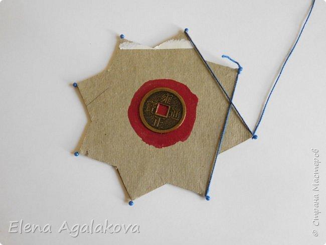 """Сегодня я хочу показать плетение мандалы на картонной основе. Эта мандалу еще называют """"Португальская звезда"""" фото 8"""