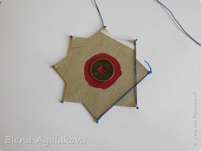 """Сегодня я хочу показать плетение мандалы на картонной основе. Эта мандалу еще называют """"Португальская звезда"""" фото 9"""