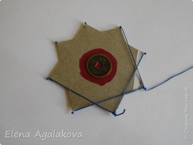 """Сегодня я хочу показать плетение мандалы на картонной основе. Эта мандалу еще называют """"Португальская звезда"""" фото 10"""