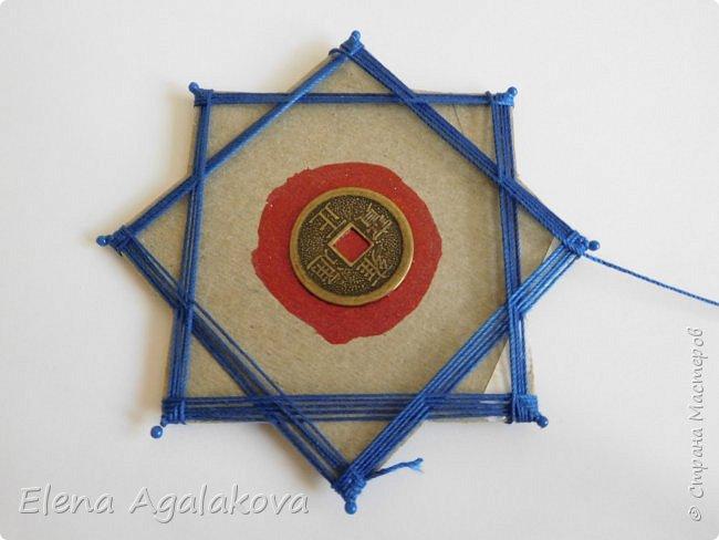 """Сегодня я хочу показать плетение мандалы на картонной основе. Эта мандалу еще называют """"Португальская звезда"""" фото 13"""