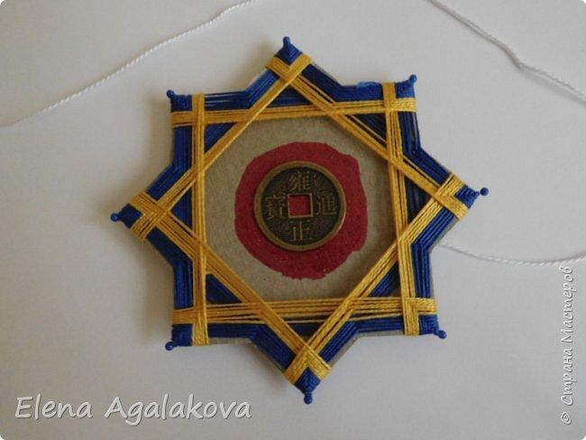 """Сегодня я хочу показать плетение мандалы на картонной основе. Эта мандалу еще называют """"Португальская звезда"""" фото 14"""