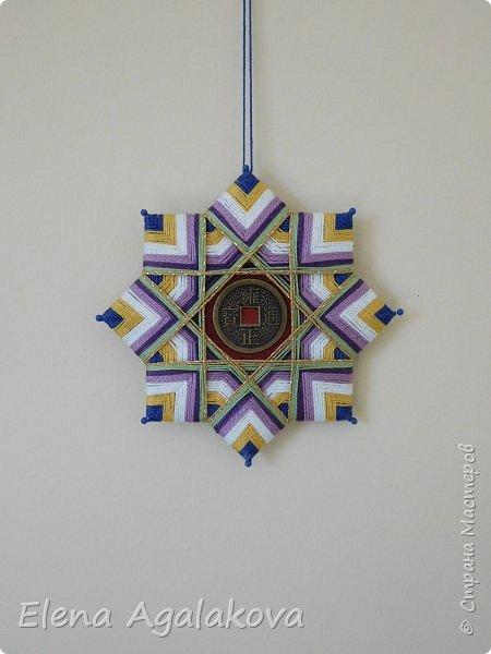 """Сегодня я хочу показать плетение мандалы на картонной основе. Эта мандалу еще называют """"Португальская звезда"""" фото 1"""