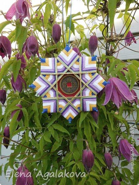 """Сегодня я хочу показать плетение мандалы на картонной основе. Эта мандалу еще называют """"Португальская звезда"""" фото 24"""